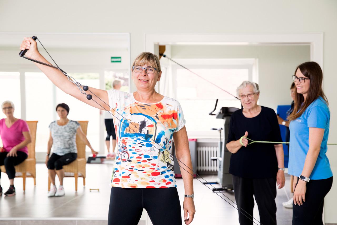 Zirkeltraining in der Seniorengymnastik